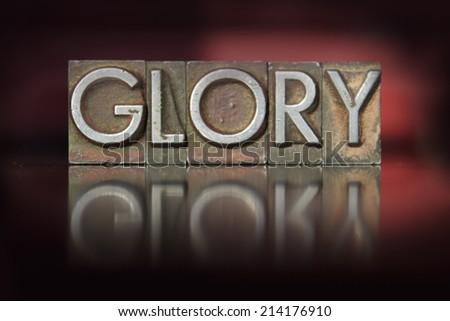 The word Glory written in vintage letterpress type #214176910