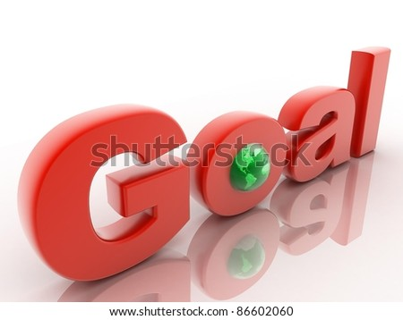 The word Goal with globe