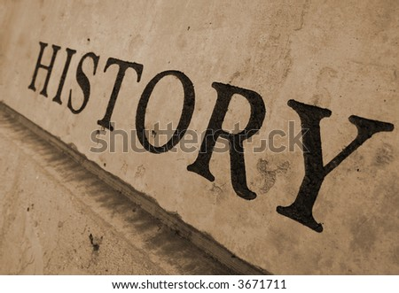 The Word History Carved In Stone Stock Photo 3671711 : Shutterstock
