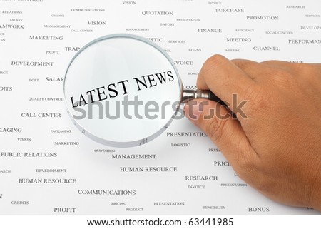 The word LATEST NEWS is magnified.