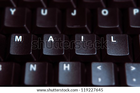 "the word ""mail"" on the keyboard"