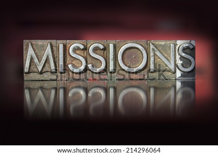 the word missions written in...