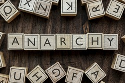 the word of ANARCHY on building blocks concept