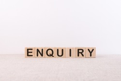 the word of ENQUIRY on building blocks concept