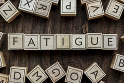 the word of FATIGUE on building blocks concept