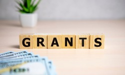 the word of GRANTS on building blocks concept.