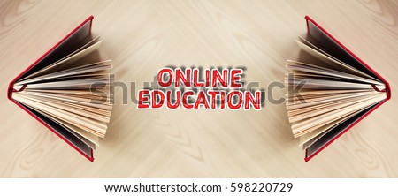 The word of Online Education. Education concept #598220729