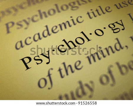 "The word ""Psychology"""