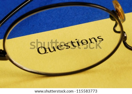 The word Questions concepts of inquiry and investigation