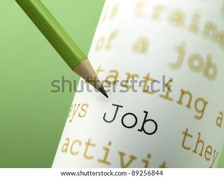 "The word ""Job"" - stock photo"