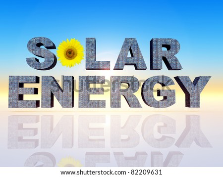 The Word Quot Solar Energy Quot Stock Photo 82209631 Shutterstock