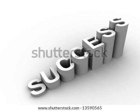 "The word ""success"" in ladder - 3d render"