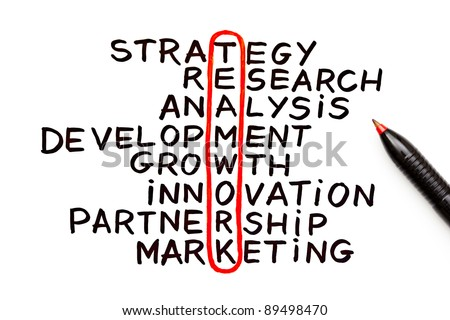 The word Teamwork highlighted with red pen in a handwritten chart