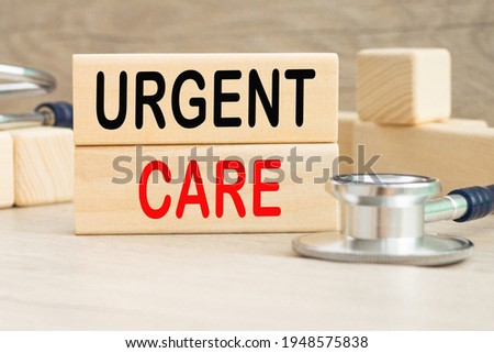 the word URGENT CARE . Medical concept. the medicine Stockfoto ©