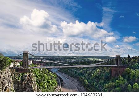 The World Famous Clifton Suspension Bridge.