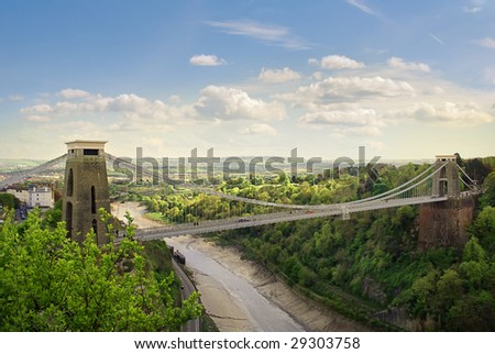 The World Famous Clifton Suspension Bridge, situated in Bristol, UK. #29303758