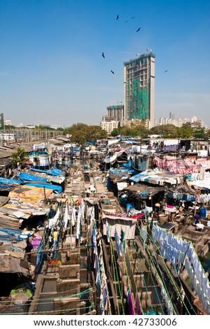 The World's Largest Open Laundry in Mumbai, India.