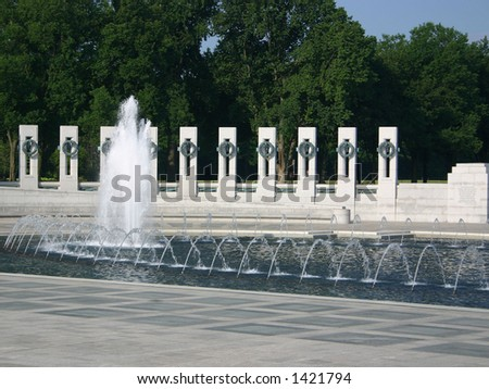 world war 2 memorial. stock photo : The World War II