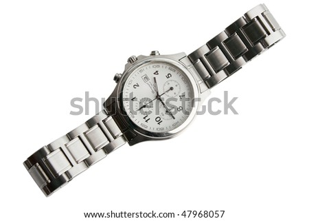 the wrist watches isolated on white background