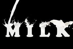 the written word milk splashes