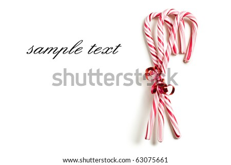 the xmas concept with stripy candy cane