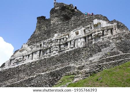 The Xunantunich Mayan ruins in Belize Foto stock ©