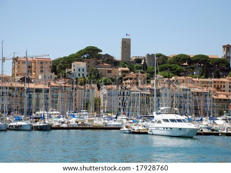 The Yacht port of Cannes (south france)