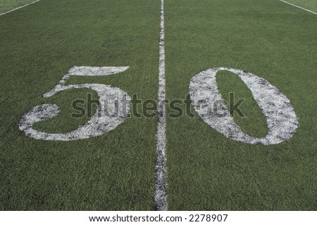 the 50 yard line where the playing field is even.