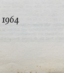 The year 1964 as printed on the title page of a journal published that year. Some foxing