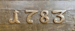 The year 1783 taken from a bronze inscription produced that year