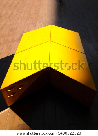 The Yellow arrow, Arrow abstract logo #1480522523
