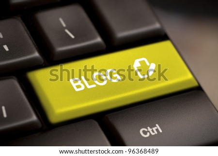 the yellow blog enter button key