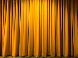 The yellow curtain