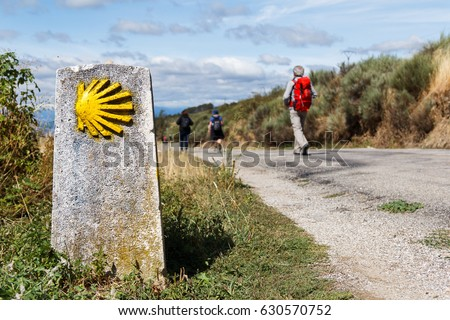 Shutterstock The yellow scallop shell signing the way to santiago de compostela on the st james pilgrimage route