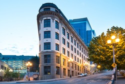 The yesler Municipal Building at Pioneer Square district at dawn, Seattle, Washington State, United States