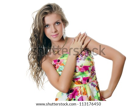 The young sensual girl with beautiful hair
