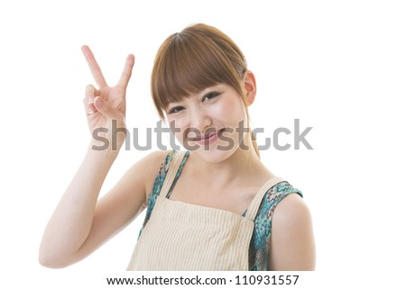 The young woman who cooks - stock photo