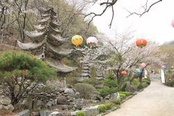 The Yunwha Mountain, Wawoo Jeongsa Temple, South Korea