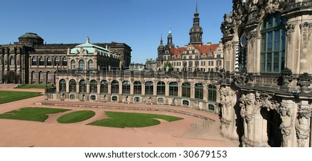 The Zwinger Palace in Dresden is a major German landmark.