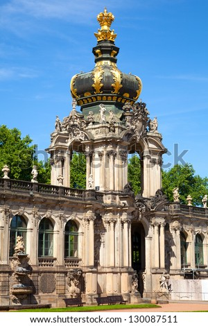 The Zwinger palace of Dresden. eastern Germany, built in Rococo style.
