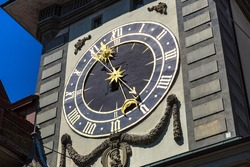 The Zytglogge, old clock tower in Bern in a beautiful summer day, Switzerland
