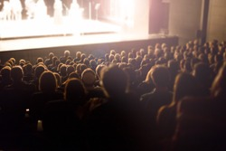 theater audience watching a show