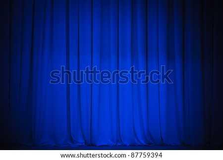 theater blue curtain