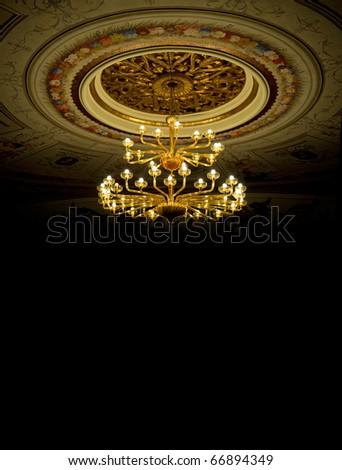 Theater ceiling with chandelier - Montegiorgio, Ascoli Piceno, Italy