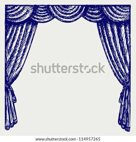Theater curtain. Raster version
