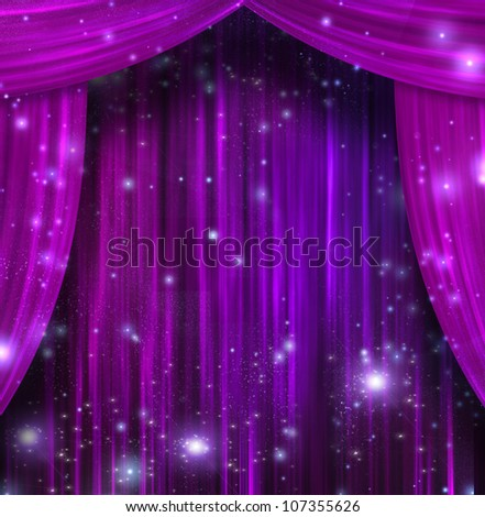 Purple stage curtains background theater curtains stock photo