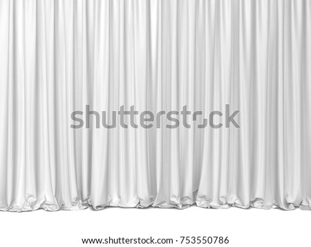 Theater curtains. 3d illustration isolated on white background