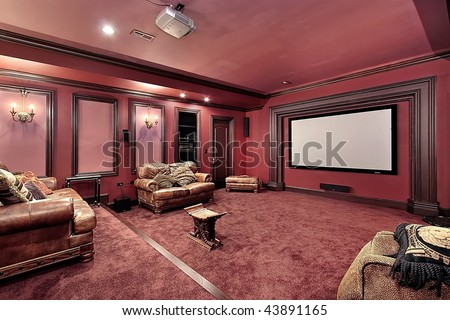 Theater in upscale home #43891165