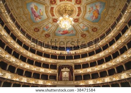 Theater Interior - Reggio Emilia, Italy