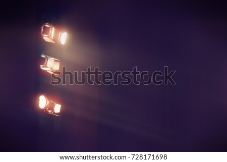 theater light in dark cinema background